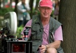 Tony Scott, directing in his famous vest and pink hat.